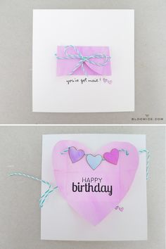 Heart envelope card @ bloomize.com