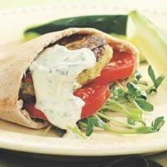 Chickpea Burgers & Tahini Sauce - EatingWell.com