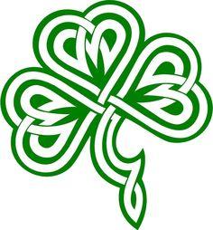 Clover / Shamrock Celtic Knot Decal /Sticker  You Pick Color!
