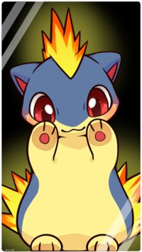 I had this little cutie as a starter Pokemon in Soul Silver. I evolved him all the way to the last evolvation of Cyndaquil. My favorite fire type Pokemon. Pokemon Go, Fotos Do Pokemon, Gijinka Pokemon, Pokemon Pins, Charmander, Pokemon Mignon, Pokemon Original, Got Anime, Anime Lock Screen