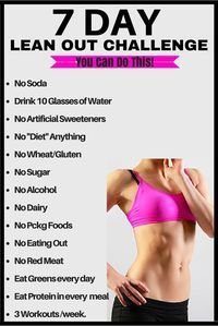 7 DAY lean out challenge | Posted By: CustomWeightLossProgram.com |
