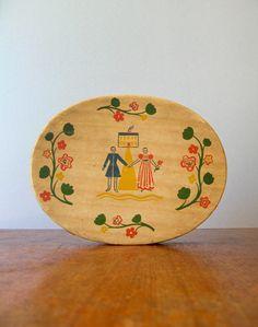 Vintage Painted Folk Art Style Box