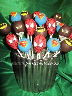 Character Cake Pops - Superhero cake pops