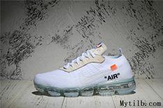 2ab996702fcc OFF White x Nike Air VaporMax 2018 OW Flyknit White Women Men