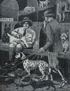TIRZAH GARWOOD (wife of Eric Ravilious) – The Dog Show, 1929 (wood engraving)