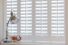 I love white wooden shutter blinds