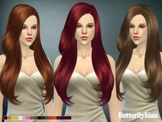 Butterflysims: Beutiful hairstyle 092 - Sims 4 Hairs - http://sims4hairs.com/butterflysims-beutiful-hairstyle-092/