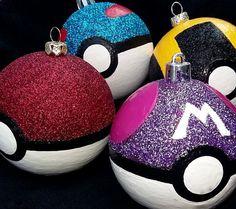 Pokeball Christmas ornaments