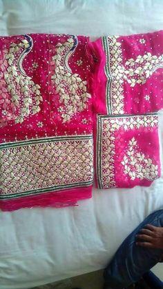 Rajputi poshak by kuldeep singh Bridal Lehenga, Lehenga Choli, Pakistani Outfits, Indian Outfits, Gota Patti Saree, Rajasthani Dress, Kaira Yrkkh, Rajputi Dress, Chiffon Saree