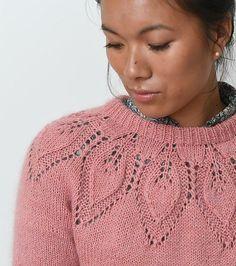 Ravelry: Dahlia Mysize Solo pattern by Lene Holme Samsøe Baby Cardigan Knitting Pattern, Lace Knitting, Baby Knitting Patterns, Beau Crochet, Knit Crochet, Winter Work Fashion, Lace Sweater, Knit Picks, Raglan