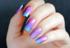 Miss bliss, eternal beauty, over the moon, Color Club, Color club gradient, color club holo, holographic, gradient nails, holographic nail p...