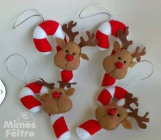 Bucilla Dropping In Felt Christmas Ornaments Kit - Click Image to Close Gingerbread Christmas Decor, Felt Christmas Decorations, Felt Christmas Ornaments, Polymer Clay Christmas, Christmas Sewing, Christmas Books, Christmas Projects, Christmas Holidays, Vintage Christmas
