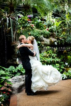 Beautiful #wedding at Gaylord #Opryland Resort with #waterfall backdrop. Photo credit: Heather Cherie Photography