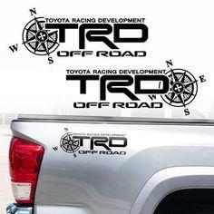 Toyota TRD Truck Off Road Racing Tacoma Tundra Compass Vinyl Sticker Decals Toyota Hilux, Toyota Tacoma Trd Pro, Toyota Tundra Trd, Toyota Trucks, Lifted Ford Trucks, Pickup Trucks, Hilux 2017, Custom Car Stickers, Toyota Racing Development
