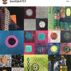 Our embroidery inspiration today comes via @boothjb4757 and samples from the Boro class she taught at the shop this past week end. #handstitch #borostitch #wonderfil #artisticartifacts #embroiderylove #handstitching #visitalexandriava #alexandriava #fiberart #textileart #artclasses #stitchingclass #alexandria.va