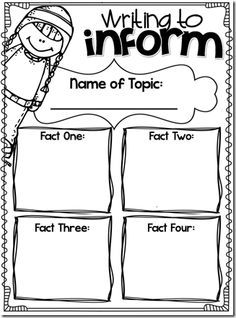 Informative/Expository Writing Graphic Organizer