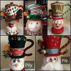 Reunión navideña Easy Christmas Crafts, Christmas Sewing, Felt Christmas, Simple Christmas, Christmas Decorations, Hanging Ornaments, Xmas Ornaments, Decoracion Navidad Diy, Globe Ornament