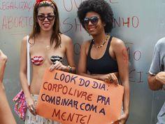 Mulheres vão às ruas de João Pessoa, PB, na 3ª edição da 'Marcha das Vadias' http://glo.bo/1mULTVF