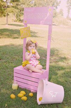 Lemonade Stand Birthday Romper / Pink Chevron / Sunshine Yellow Ruffle / Ruffle / Sunsuit // Bodysuit // M2M // Newborn 3 6 12 18 24 Months...