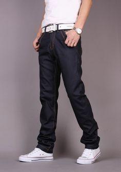 Korea High Quality Long Slim Washed Simple Jeans Pants XS/S/M/L/XL/XXL/XXXL @S5-291-1