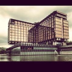#Brussels #axa #brutalism #brutal #architecture #golden #domination #grey by mszpil