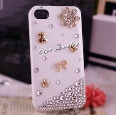 DIY phone case pink & gold