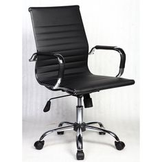 Modern Executive Chair Built-In Lumbar Support Office Furniture Black Finish New High Back Office Chair, Black Office Chair, Office Chairs, Grey Office, Home Office Desks, Office Furniture, Eames, Rack Tv, Mesh Chair