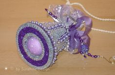 Fensterschmuck Deko Geschenke Wohnaccessoires | Weihnachtsschmuck Glocke silber/lilahttp://sunshine-design.neueshop.com/?page=details&pId=2061365&