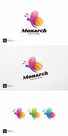 Butterfly Logo, Butterfly Design, Monarch Butterfly, Logo Templates, Free, Color, Bowtie Pattern, Colour, Colors