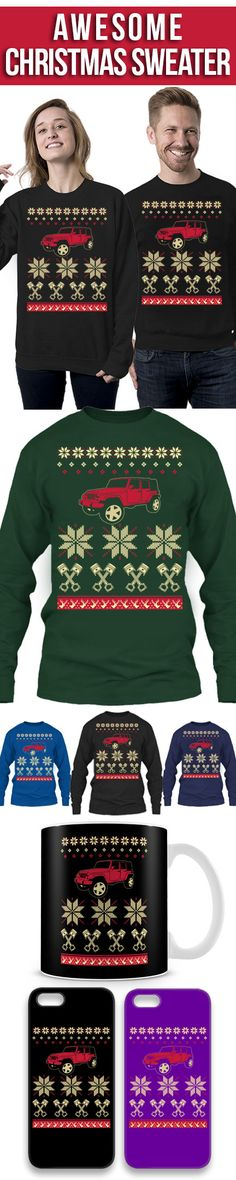 Jeep Ugly Christmas Sweater! Click The Image To Buy It Now or Tag Someone You Want To Buy This For. #motorcycle