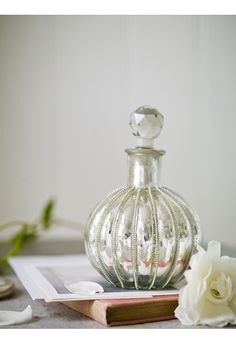 Mercuried Glass Apothecary Bottle NEW - JUST ARRIVED