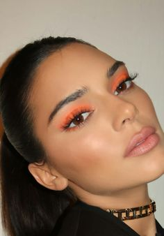 makeup inspo neon eyeshadow neon eyeshadow look orange eyeshadow neon makeup makeup trends beauty trends Makeup Eye Looks, Cute Makeup, Glam Makeup, Pretty Makeup, Skin Makeup, Makeup Inspo, Makeup Inspiration, Beauty Makeup, Makeup Trends