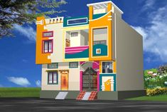 Simroz palace modern houses by madina associates modern House Front Wall Design, Single Floor House Design, House Outside Design, Village House Design, Bungalow House Design, Front Design, Gate Design, Narrow House Designs, Modern Small House Design