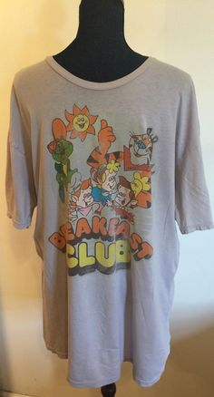 Kellogg's Cereal Breakfast Club Men's T-shirt Size Extra Large Snap Crackle Pop #VintageKelloggs #shirt