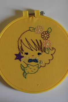 Baby Mermaids Embroidery pattern by GreenBeanBabies