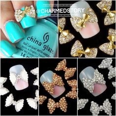 So many different nails charms to choose from. Create your own theme ❤️