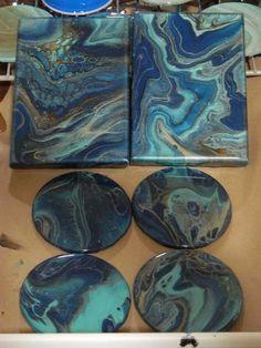 Tutorial on how I make handmade resin coasters. Tutorial on how I make handmade resin coasters. Epoxy Resin Art, Diy Resin Art, Diy Resin Crafts, Acrylic Resin, Acrylic Art, Handmade Crafts, How To Make Resin, Acrylic Pouring Art, Resin Tutorial