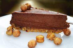 Triple nutty cheesecake (or chocolate cheesecake on hazelnut base) Best Nutella Cheesecake Recipe, Chocolate Cheesecake, Dessert Recipes, Desserts, Greek Recipes, Cheesecakes, Tiramisu, Cocoa, Pudding