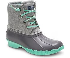 Saltwater Duck Boot, Grey/Mint