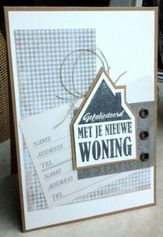 Verhuiskaartje, met een prachtige stempel van het scrapbook atelier