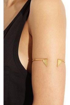 MARIA BLACK Paris gold-plated arm cuff $580