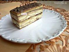 Medové rezy s piškótami (fotorecept) Dessert Recipes, Desserts, Ale, Food, Basket, Tailgate Desserts, Deserts, Ales, Desert Recipes