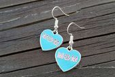 Mom Heart Charm Earrings: Best Mother Ever Jewelry, Mother's Day Charms, Blue and Pink Charms, Grandma Grandmother Nana Birthday Gift Ideas Heart Earrings, Beaded Earrings, Diy Jewelry Making Supplies, Or Noir, Best Mother, Jewelry Tree, Silver Charms, Heart Charm, Bracelets