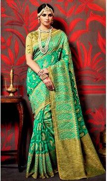 Printed Silk Brown Color Contemporary Saree Blouse | FH488575062
