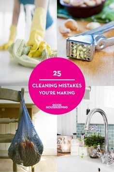 25 Of The Biggest (And Grossest) Cleaning Mistakes You're Making