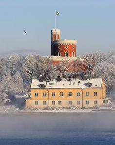 Djurgården in winter by Ingeborg van Leeuwen, via Flickr
