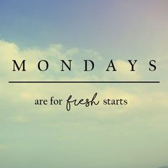 Time for a fresh start!