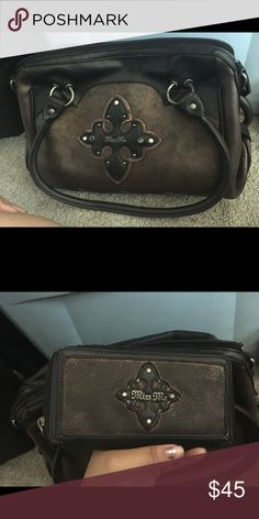 Brown miss me purse with matching wallet Used but still in good condition! Miss Me Bags Shoulder Bags