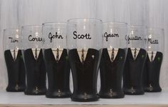 Groomsmen beer glasses