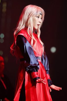 Moonbyul of Mamamoo at 4 season concert K Pop, Beautiful Moments, Most Beautiful, Wheein Mamamoo, Red Aesthetic, Girl Crushes, Kpop Girls, My Girl, Leather Jacket